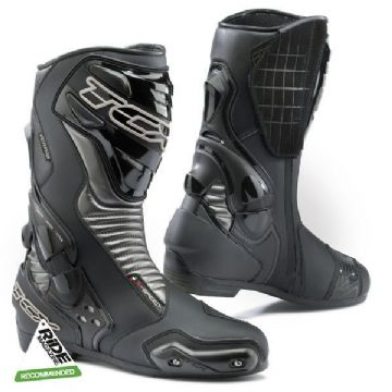 TCX S-Speed Leather Sports Touring Waterproof Motorcycle Boots - Black/Graphite